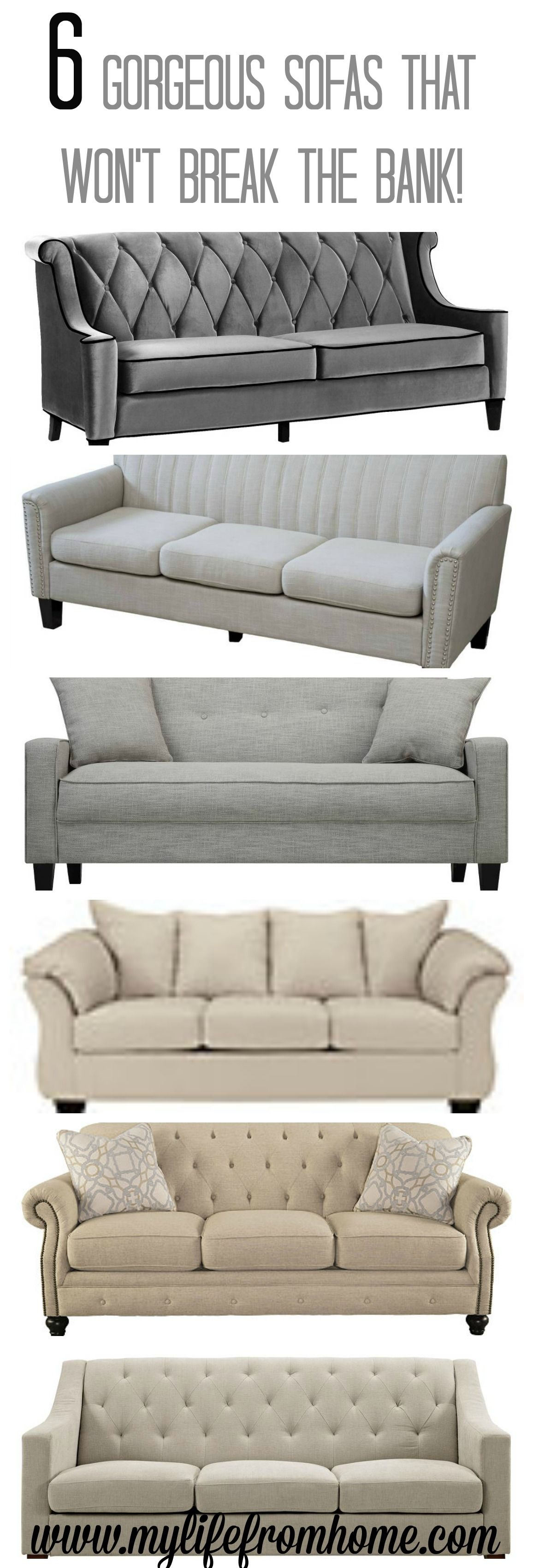 6 Gorgeous Sofas That Are Affordable Yet Stylish And Chic. Perfect For Any  Space!