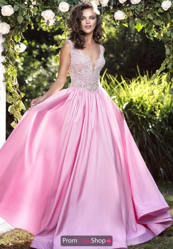 Tarik Ediz Long Beaded Dress 93181