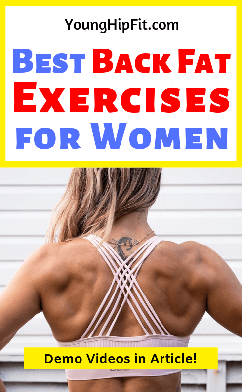 d4b462aa71ee1 Best back fat exercises for women. Wear backless dresses with confidence  and get rid of bra bulge with this women s back fat workout you can do at  home.