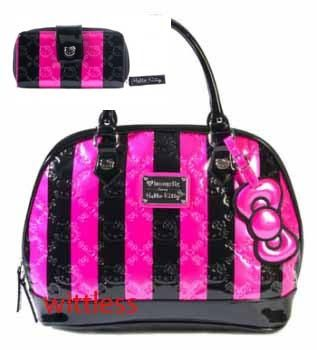 Authentic Sanrio Loungefly Hello Kitty Purse Wallet Special Edition Pink Stripes Ebay