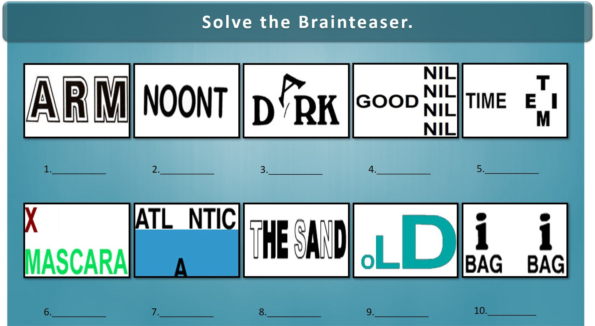 How many of these can you solve? Brain teasers, Trivia