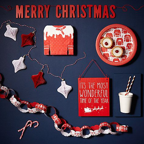 68d72922d Buy Ginger Ray Merry Christmas Wooden Bunting Online at johnlewis ...