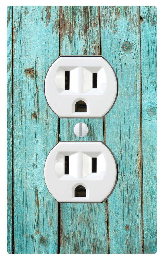 Blue Bleach Wood, Printed, Home Decor Light Switch Cover ...