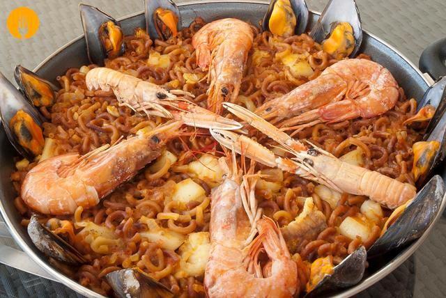 Fideua De Marisco Recetas De Cocina Cocina Casera Fideua Marisco