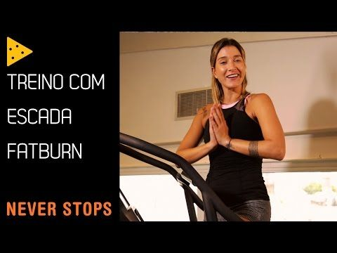 TREINO FATBURN NA ESCADA PARA QUEIMAR CALORIAS - YouTube