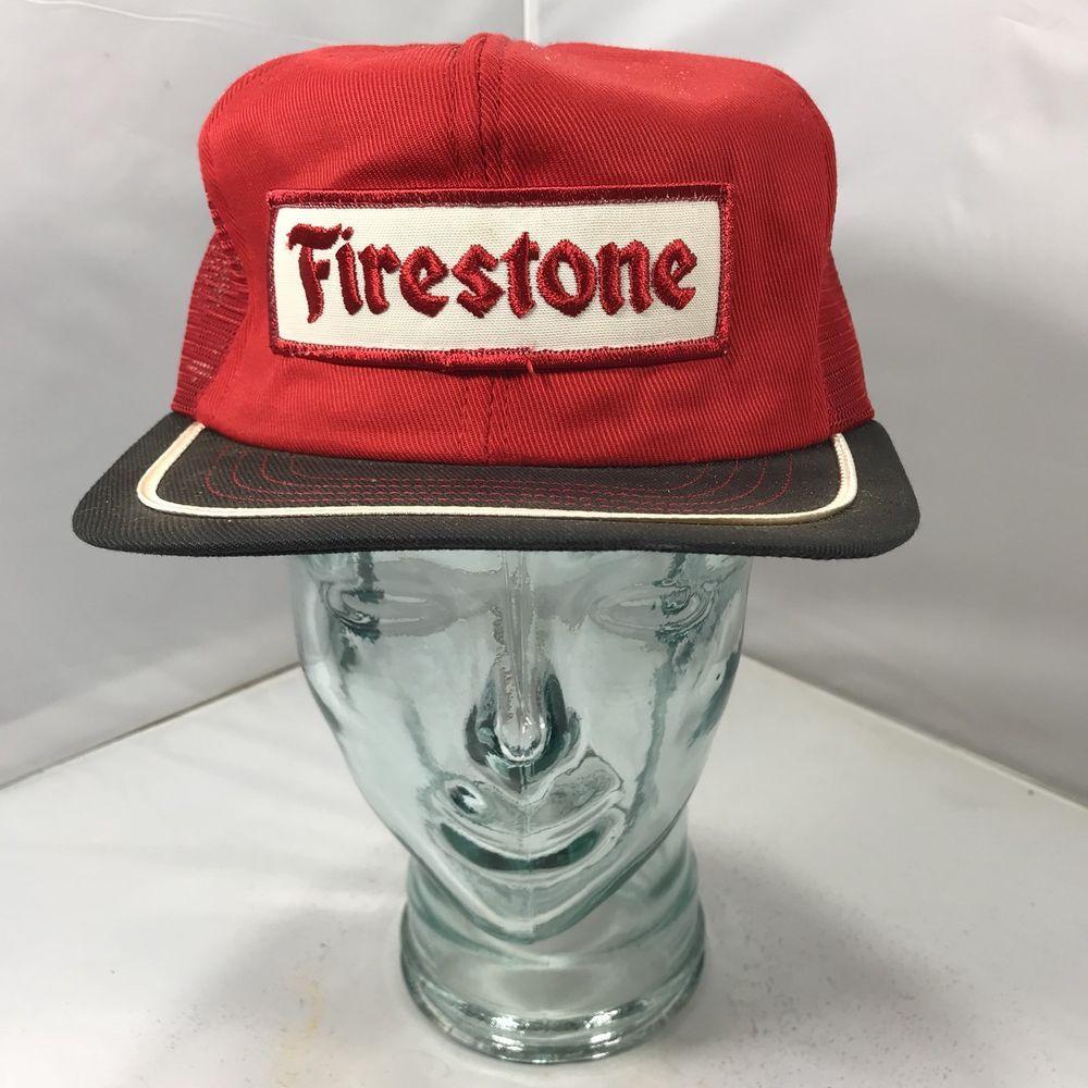 9fe47f4bbaf Vintage Firestone Patch Snapback Trucker Hat Cap Swingsters 70s 80s ...