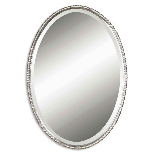 Sherise Brushed Nickel Oval Mirror Uttermost Mirrors Home Decor W22 X H32 250