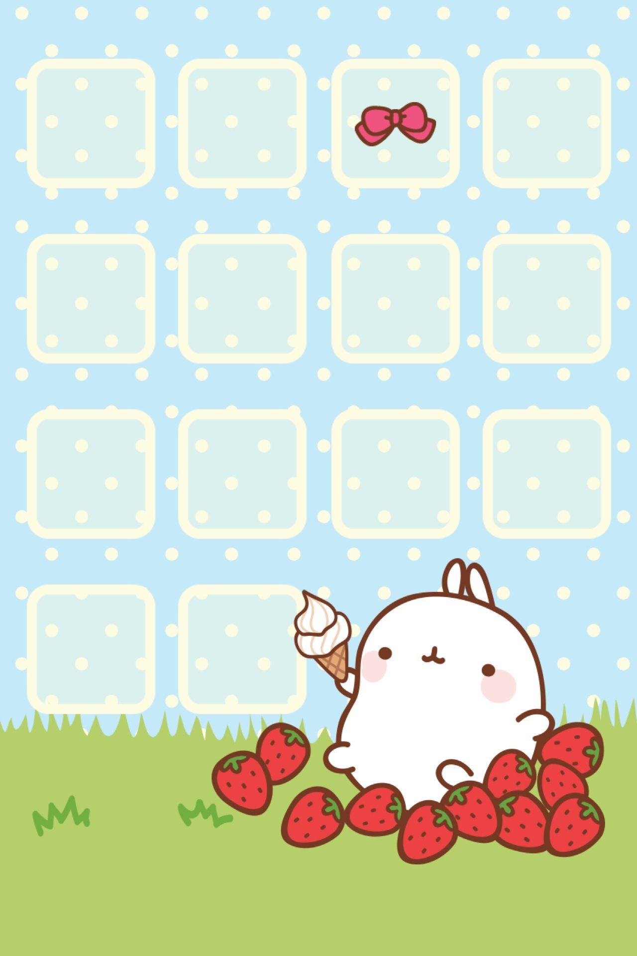 Cute home screen Kawaii wallpaper Papel de parede kawaii