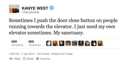 Kanye West S 22 Wildest Weirdest And Most Controversial Tweets Ever Title Magazine Funny Kanye Kanye Kanye Tweets