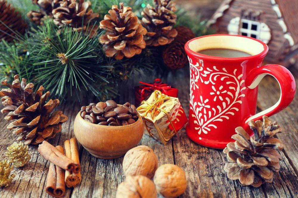Картинка зимнее доброе утро с чашкой кофе