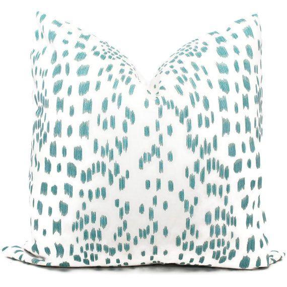 Brunschwig Fils Les Touches Aqua And White Decorative