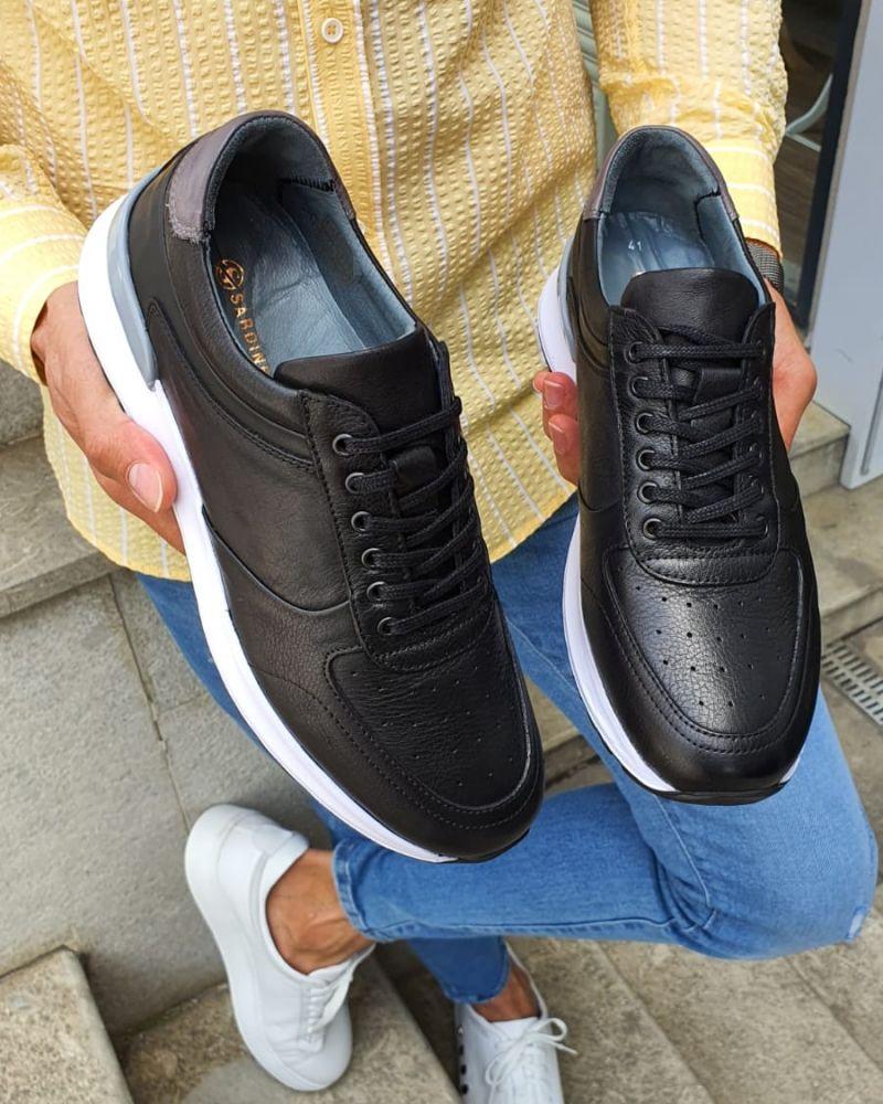 Buy Black Mid Top Sneakers By Gentwith Com With Free Shipping Mid Top Sneakers Sneakers Best Shoes For Men [ 1000 x 800 Pixel ]