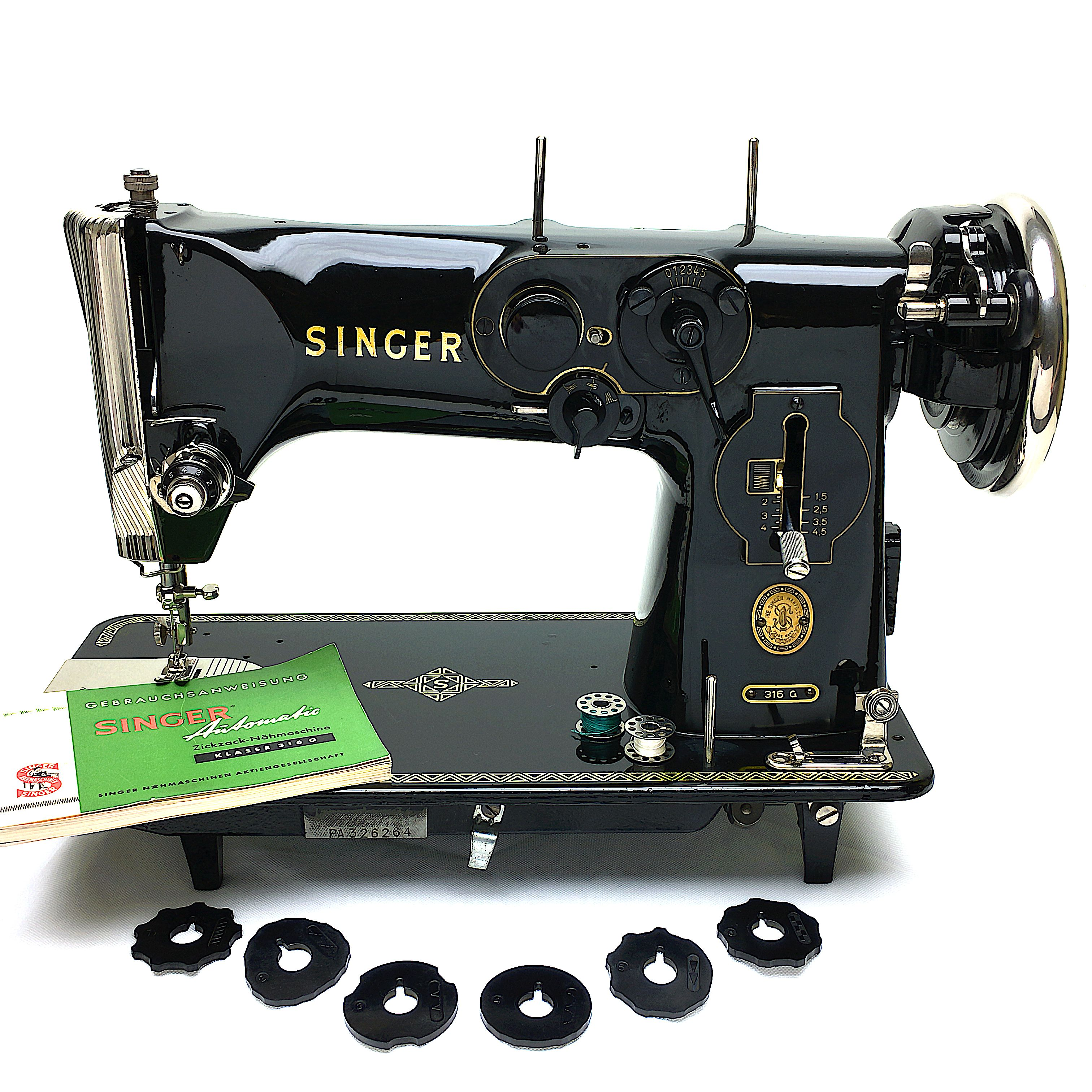 SINGER 316G Zig Zag Sewing Machine. Made in West Germany