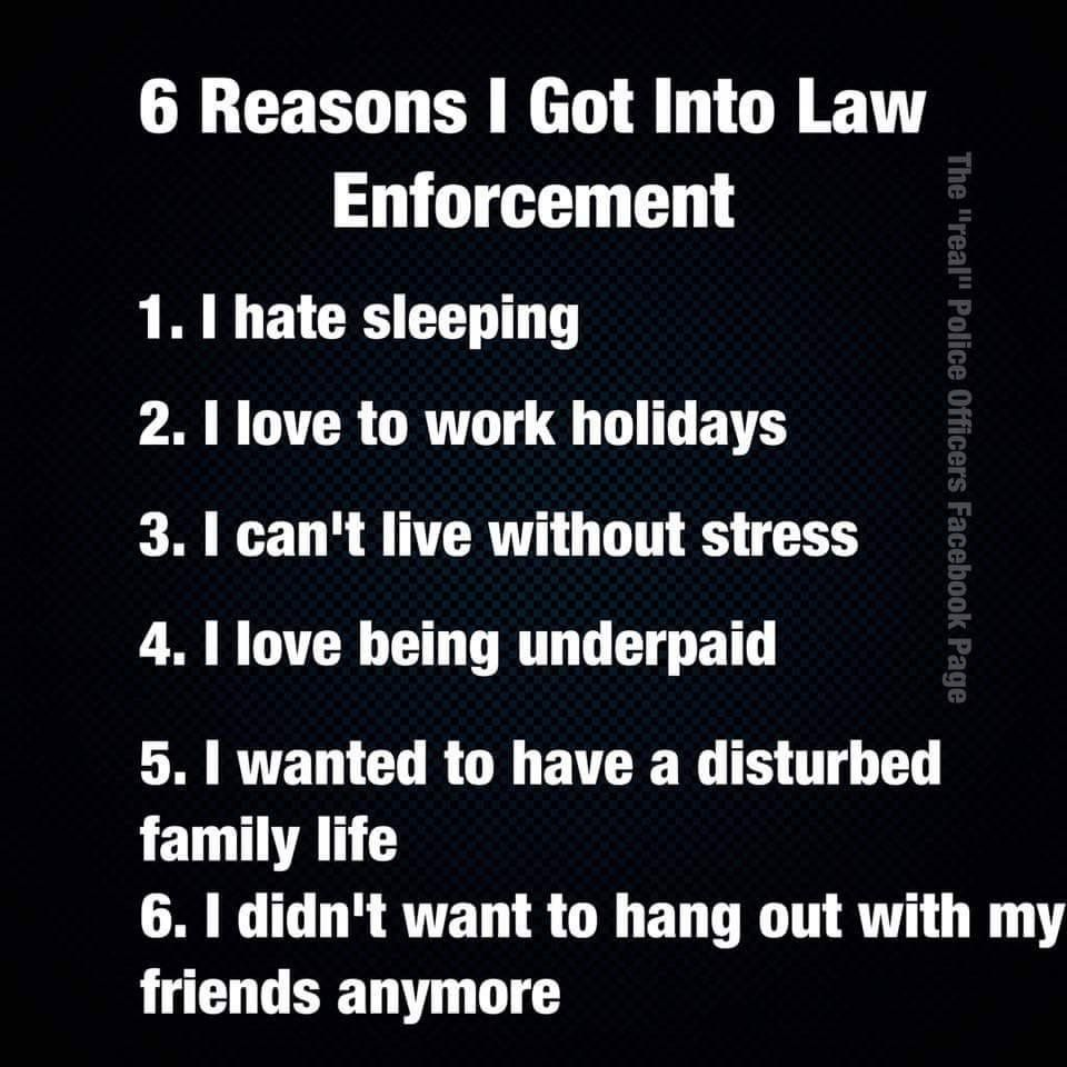 reasons to be a police officer