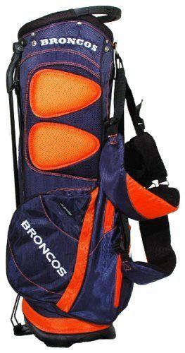 Nfl Denver Broncos Stand Golf Bag By Team 129 99 Umbrella Holder And Towel