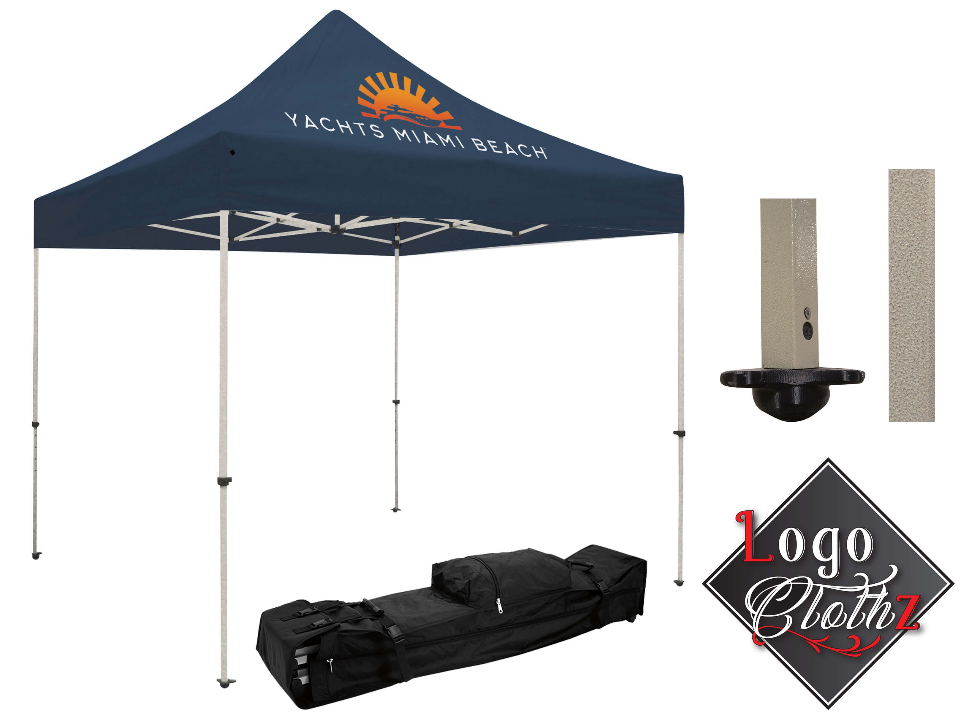 Branded Pop Up Canopy Logo Printed Standard 10 X 10 All In One Kit One Full Color Logo Pop Up Canopy Tent Canopy Prints