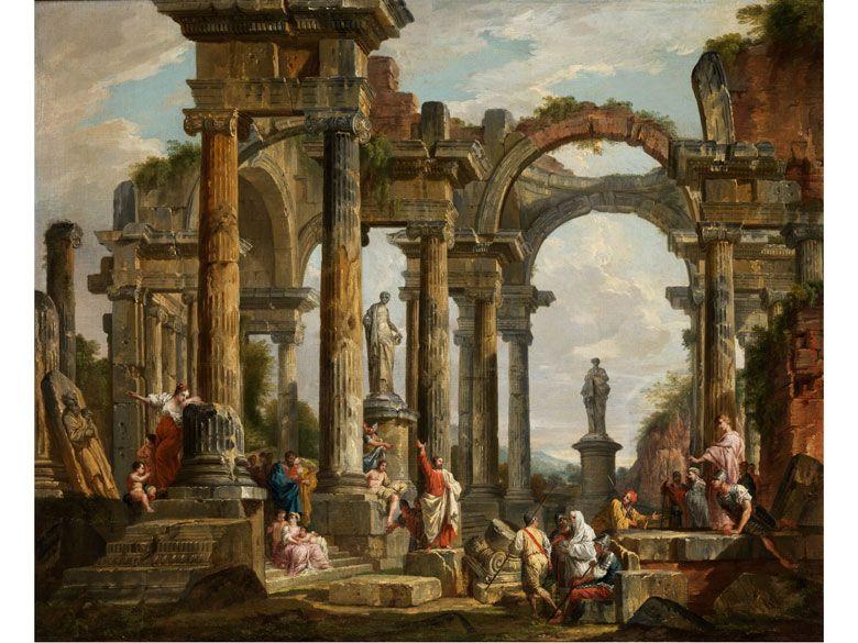 Giovanni Paolo Panini, (Piacenza 1691 - 1765 Rome) - Roman Ruins ...