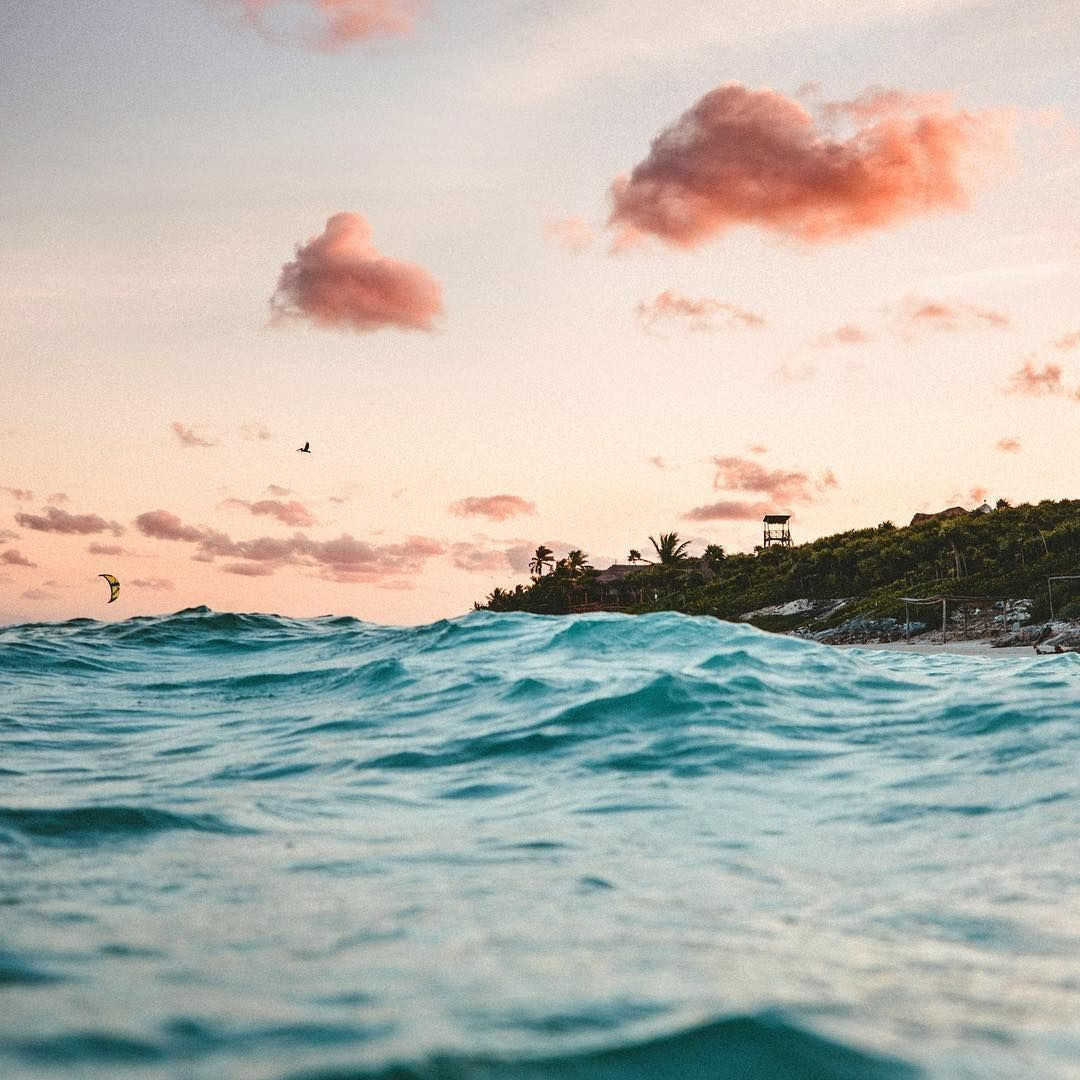 Tulum Mexico Waves Wallpaper Summer Waves Best Iphone Wallpapers
