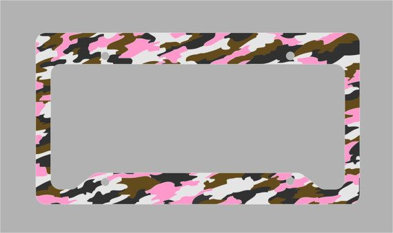 Pink Camouflage Camo License Plate Frame by MobileExpressions ...