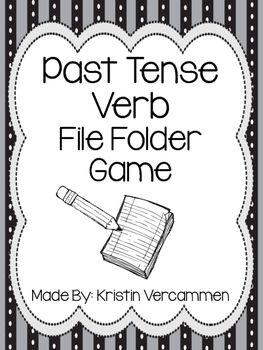 Past Tense Verb File Folder Game Folder Games File Folder Games File Folder Labels