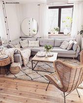 Boho  Scandi  gli elementi naturali dello stile boho incontrano le decorazioni moderne di ispirazione scandinava I colori sono neutri mentre i materiali come legno rattan...