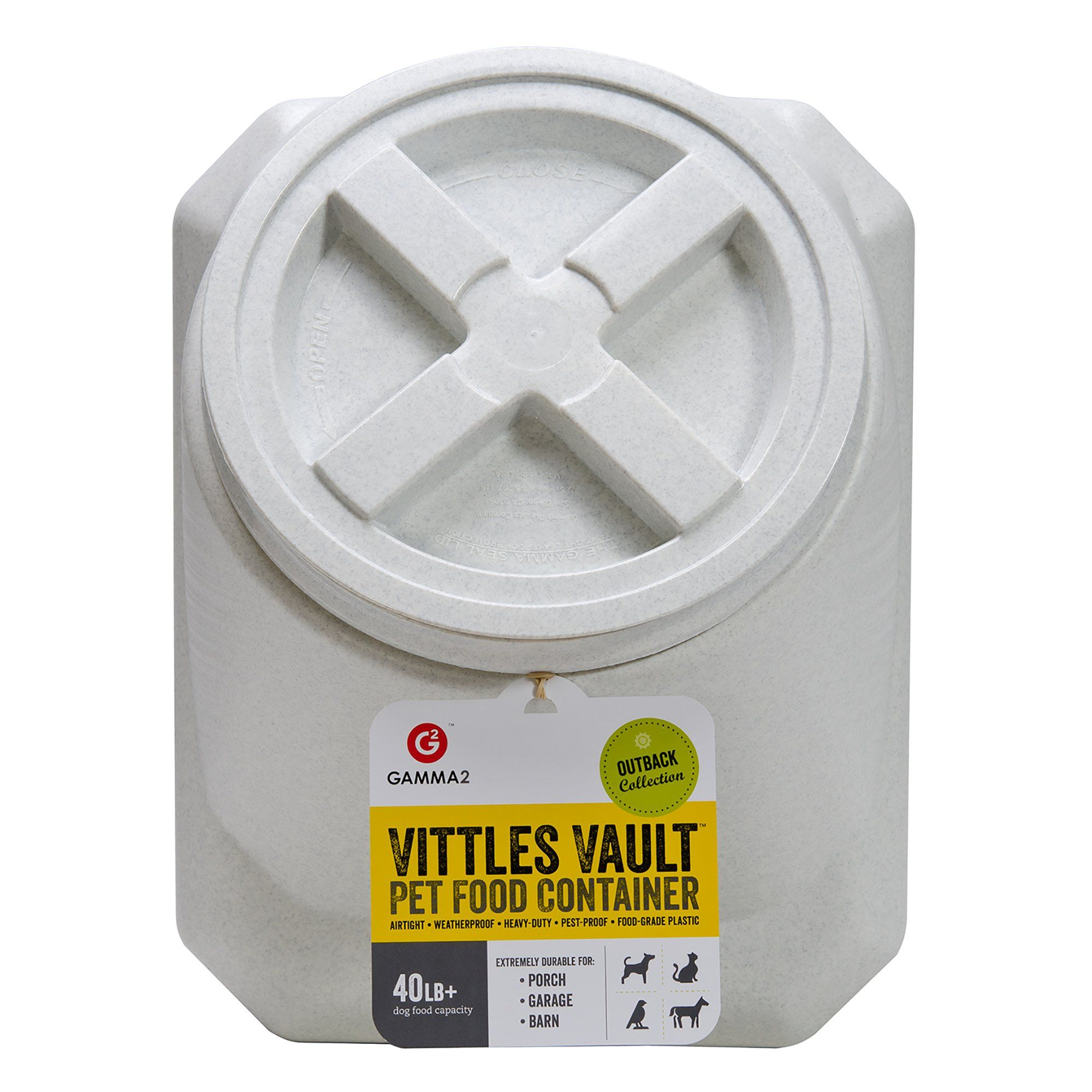 Gamma Vittles Vault Stackable 40 Lbs Pet Food Container Dog