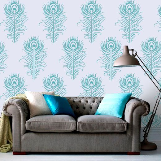 Floral Stencils Peacock Feather Stencil Reusable For Home Wall Decor Painting Art Craft See Our At Ideal Ltd