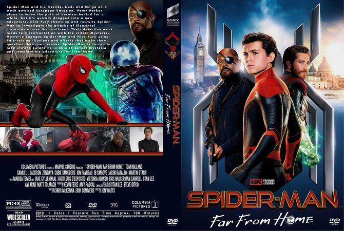 Spider Man Far From Home 2019 Dvd Custom Cover Movie Covers Dvd Cover Design Custom Dvd