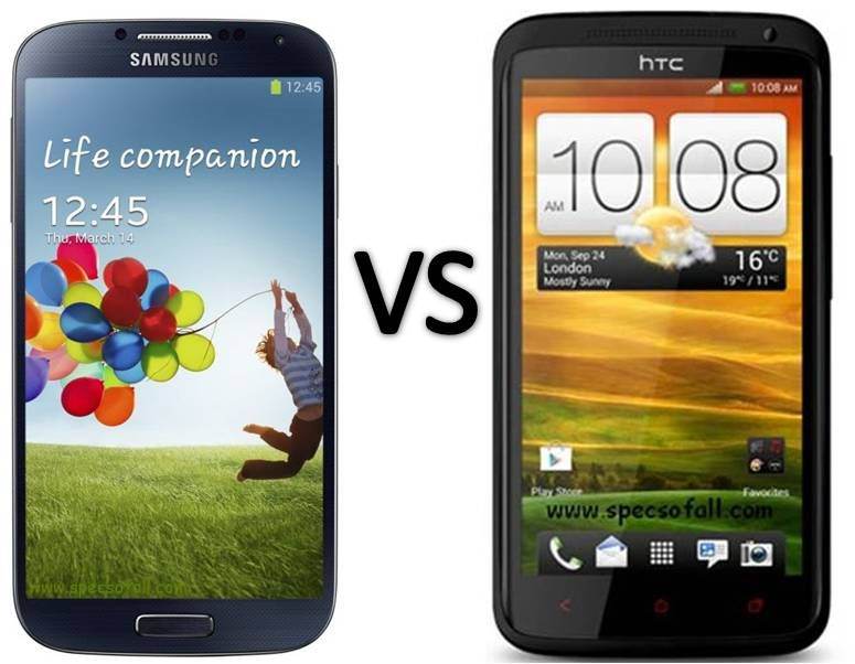 Compare Samsung Galaxy S4 vs HTC One X Plus - Specs Of All