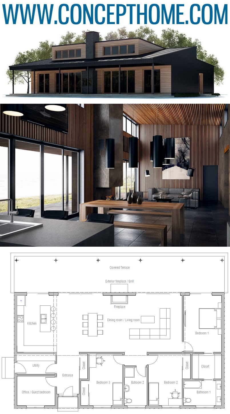 Small Home Plan Ch310 In 2020 House Plans New House Plans Architecture Design