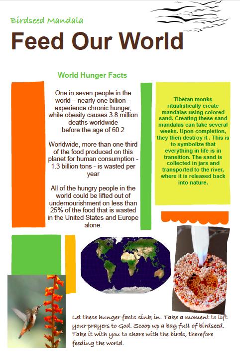 Interactive prayer stations on Hunger awareness   Social