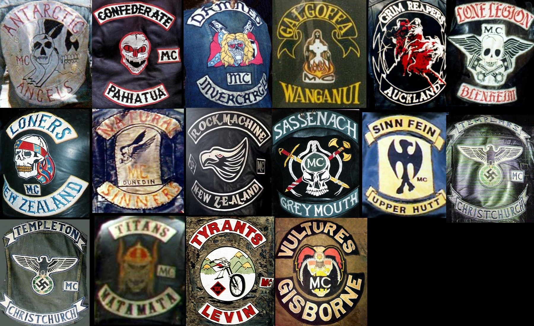 Hells angels patches pictures of dogs