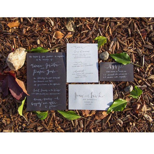 #wedding #invitations #suite Beautifully Crafted from LetterLustDesign.com #moderncalligraphy #calligraphy #vancouvercalligrapher #pointedpen #flourishforum