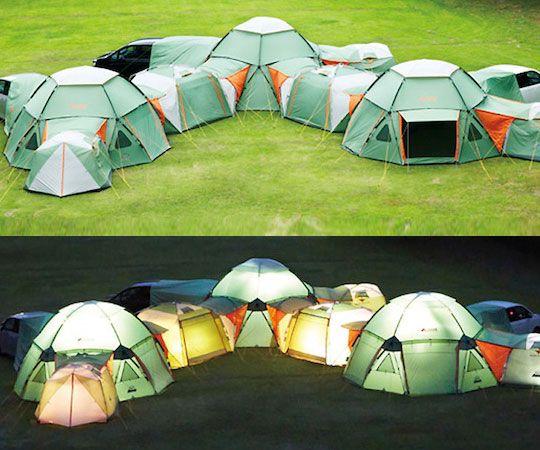 Infinitely Modular Tent & Infinitely Modular Tent   Backyard   Tent Camping glamping Camping ...