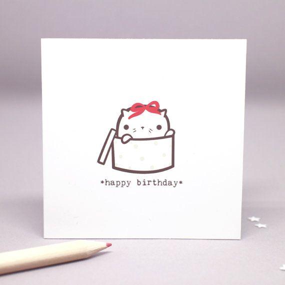 Happy Birthday Card Cat Lovers