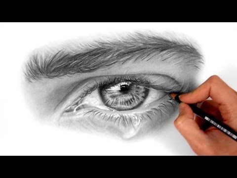 Timelapse Drawing And Shading A Realistic Eye With Teardrop