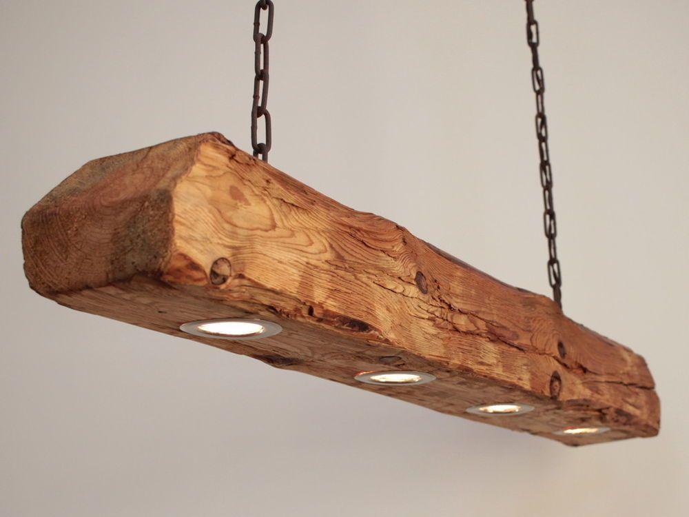 Hängelampe, Deckenlampe, Lampe, rustikal, Holz, Holzbalken, LED - decke aus rustikalen balken wohnung bilder
