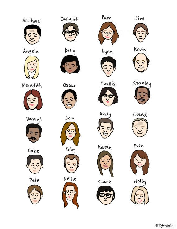 The Office Mood Chart Print Hand Illustrated The Office Finale