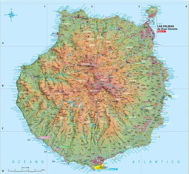 Gran Canaria Tourist Map Map Gran Canaria