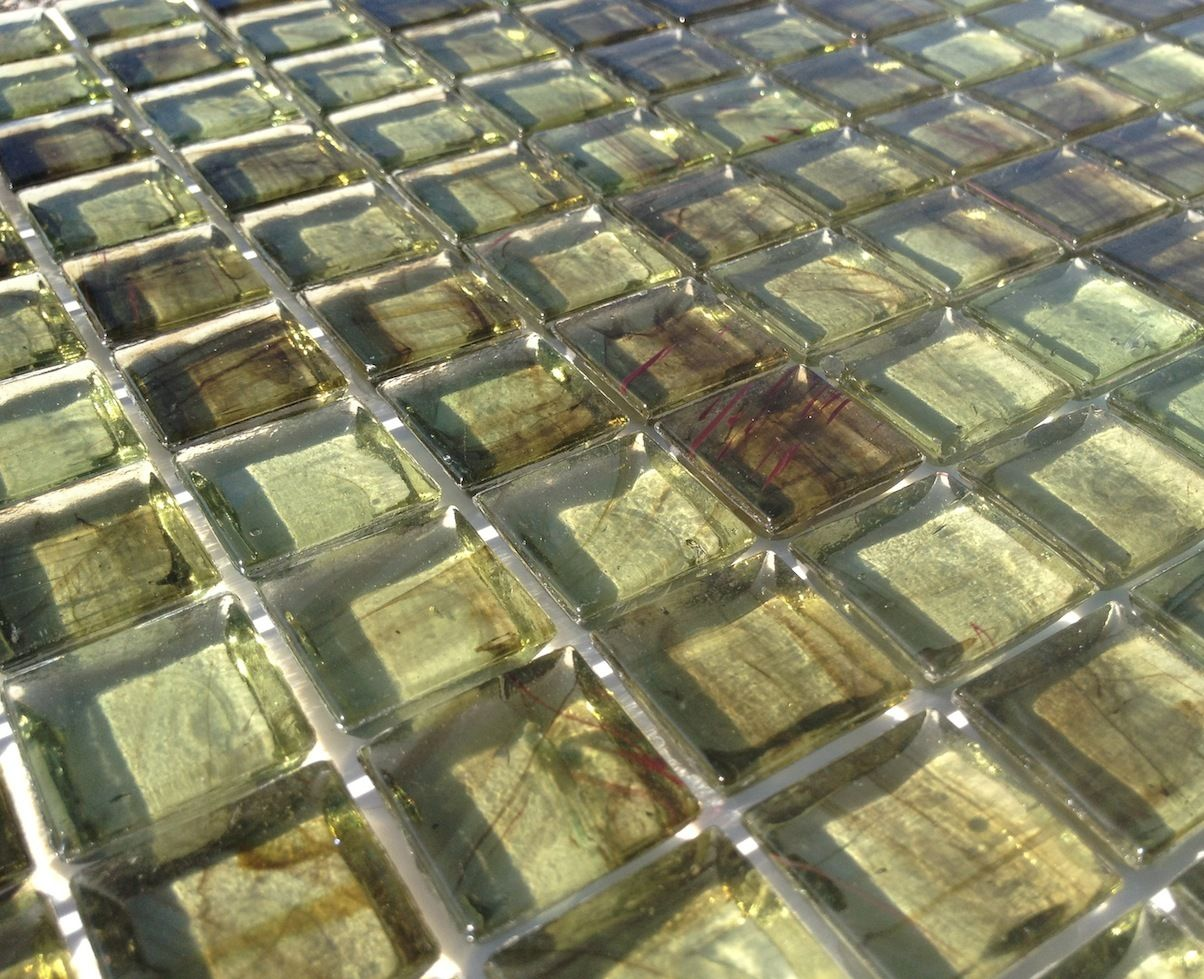 Mineral Tiles Clear Gl Mosaic Tile Stained Green 12x12 18 25 Http