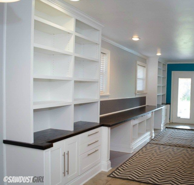 Captivating Built In Office Cabinets