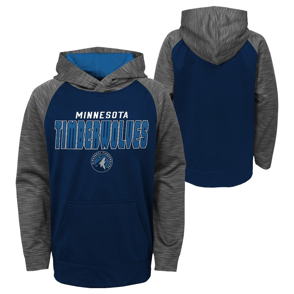 0d1bd5a631b Cheer on the Minnesota Timberwolves in style with this official NBA Boys  fleece hoodie. This sports apparel makes your allegiance unmistakable using  team ...