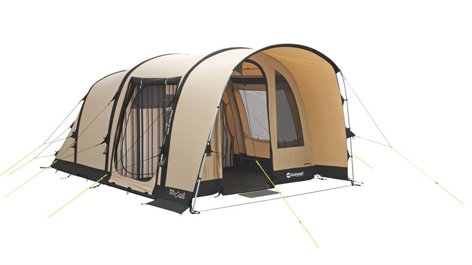 The three room inflatable Outwell tunnel tent Flagstaff sleeps four people in style and comfort in a striking design using the Power Air Tube System ...  sc 1 st  Pinterest & Flagstaff 4ATC Outwell Inflatable Tent | camping | Pinterest ...
