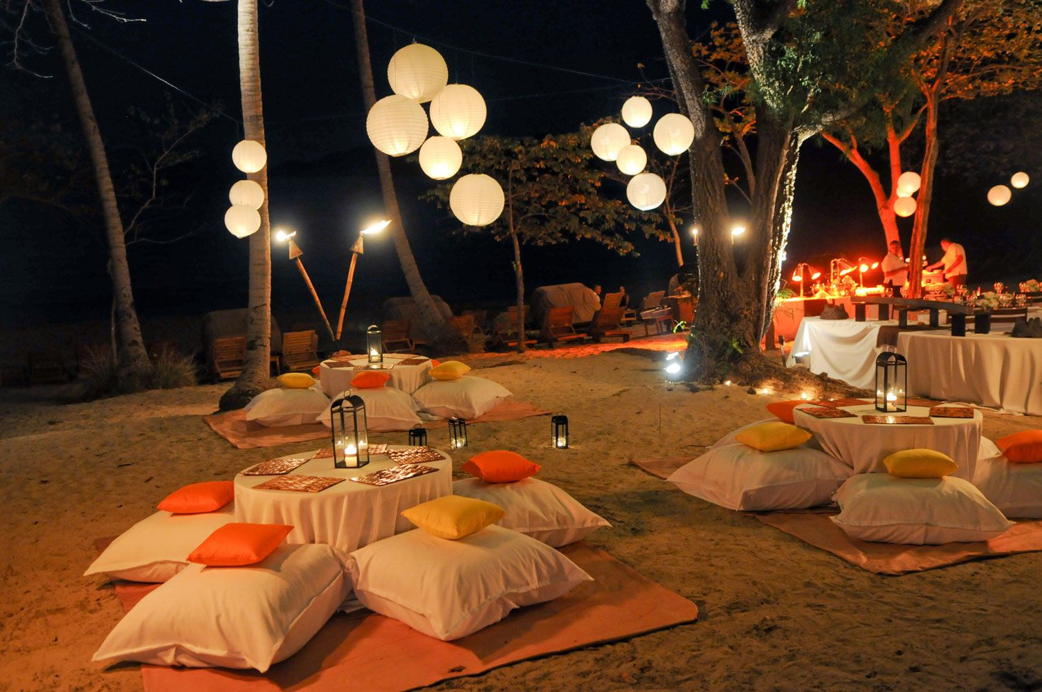 Rehaersal DInner party set up | Tent decorations ...