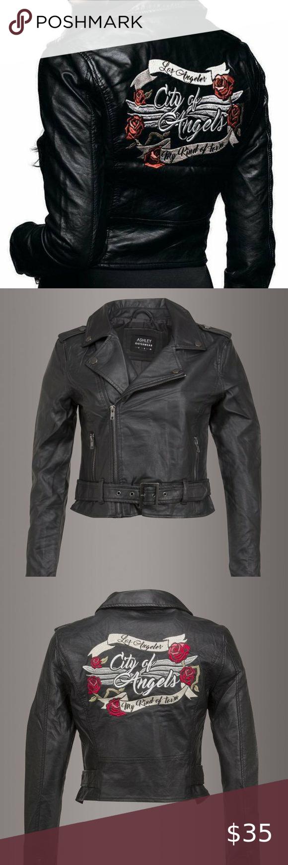 Ashley Outerwear Los Angeles Faux Leather Jacket Ashley Outerwear Los Angeles Faux Leather Jacket Size Xl Featu Leather Jacket Faux Leather Jackets Outerwear [ 1740 x 580 Pixel ]