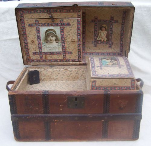 Best Deals And Free Shipping Antique Trunk Antique Dolls Antiques