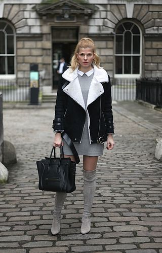 Shearling Jacket at LFW – Day 1