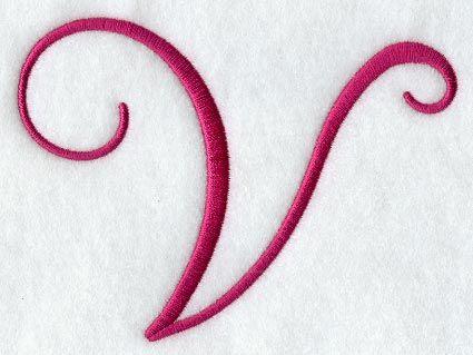 Fancy Flourish Capital Letter V - 4 Inch | Misc LETTERS ...