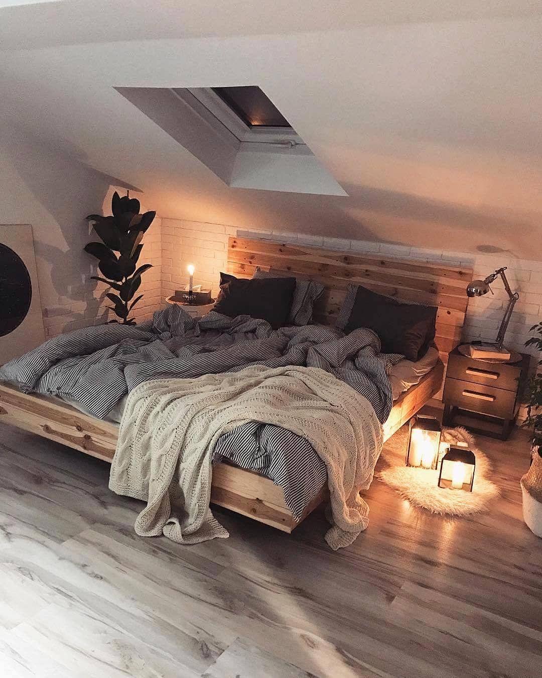 "Interior Design & Decor on Instagram: ""Attic Bedroom by @nasze.poddasze / Poland 😍  #bedroom #bed #cozy #decor #design #interior #interiors #interiordesign"""