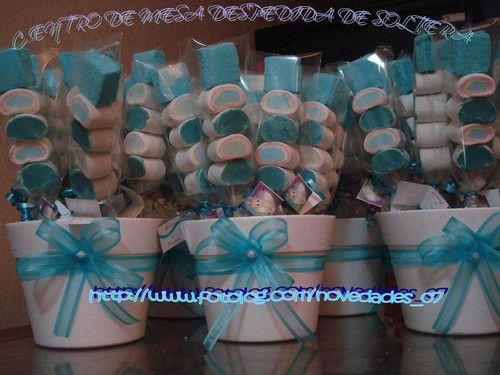 Centros de mesa brochetas de bombon novedades 07 - Novedades para baby shower ...